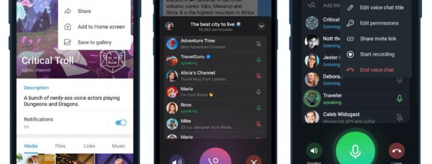 Chats de voz en Redes Sociales